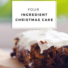 Four Ingredient Christmas Cake Recipe
