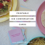 FREE printable conversation cards | Chicken tacos recipe