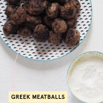 Greek Meatballs With Yoghurt Dip