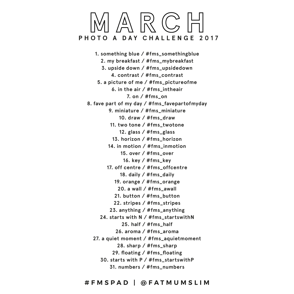 March Photo A Day Challenge 2017