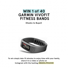 Win 1 of 40 Garmin Vivofit Fitness Bands {thanks to Bupa!}
