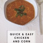 Quick & Easy Chicken and Corn Soup Recipe