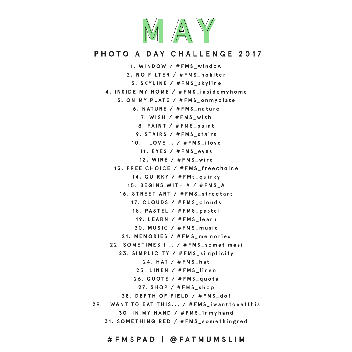 May Photo A Day Challenge 2017