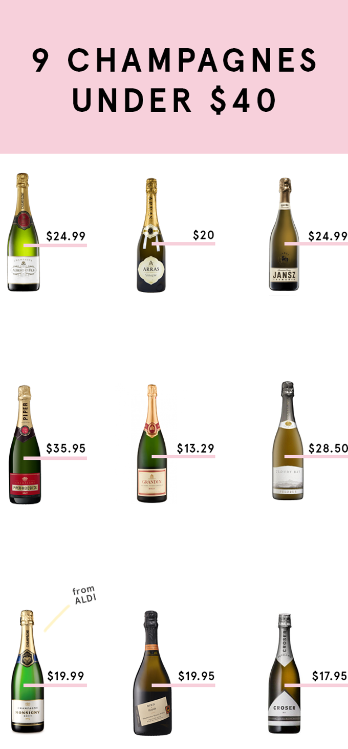 Cheers! Nine champagnes under forty bucks!