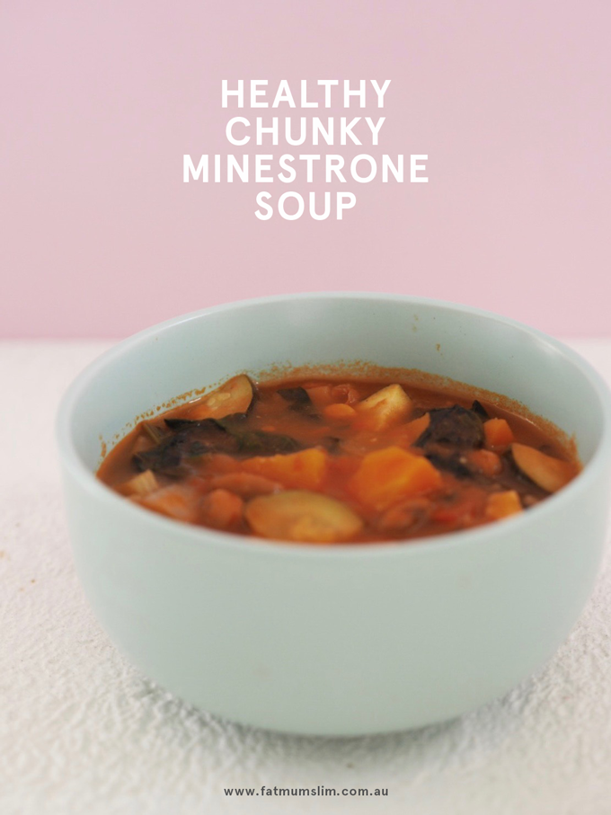 Healthy Chunky Minestrone Soup Recipe