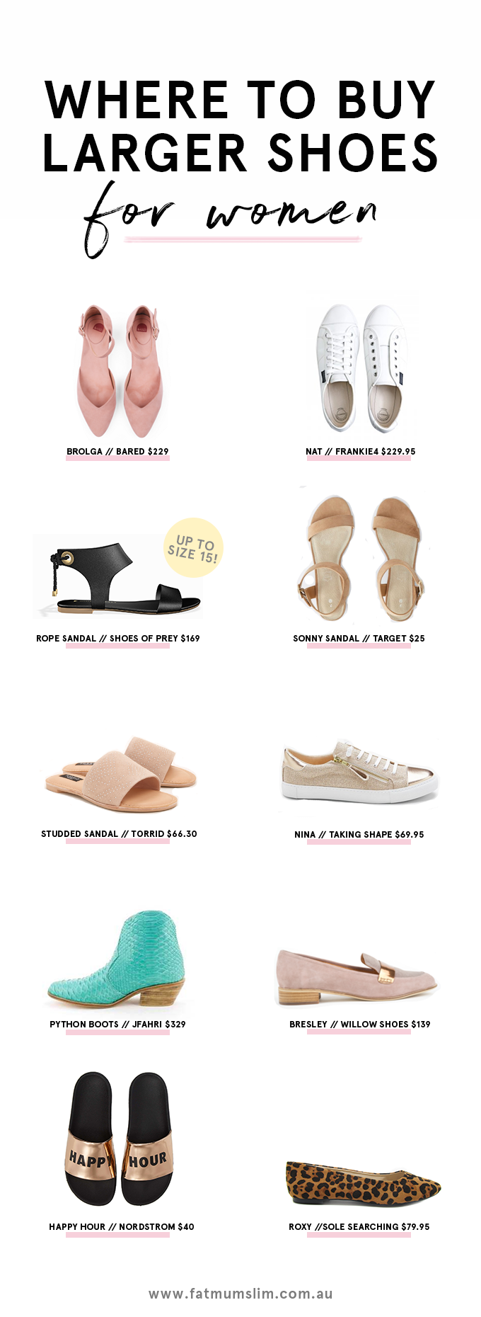 Where To Buy Larger Shoes For Women Fat Mum Slim