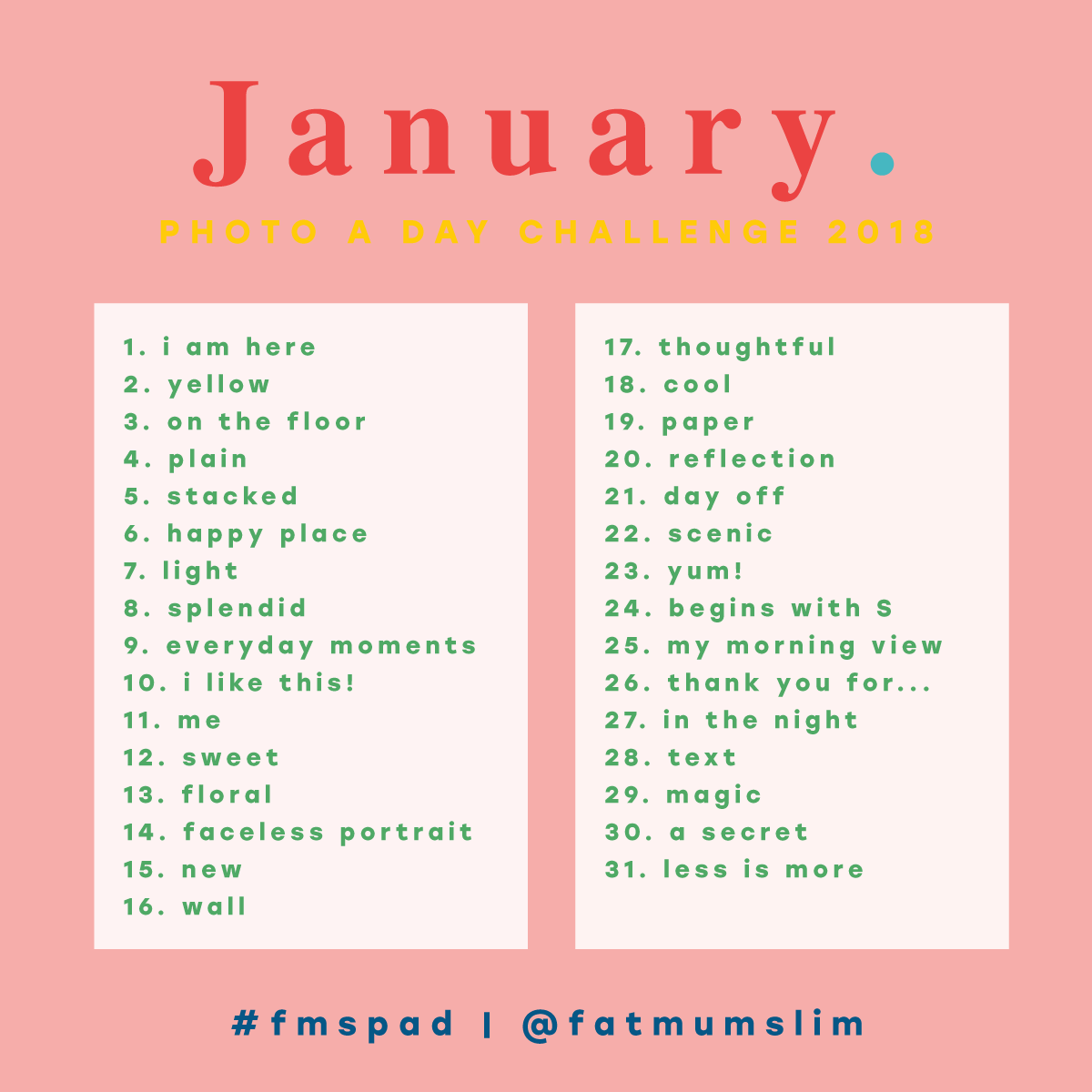 January Photo A Day Challenge 2018