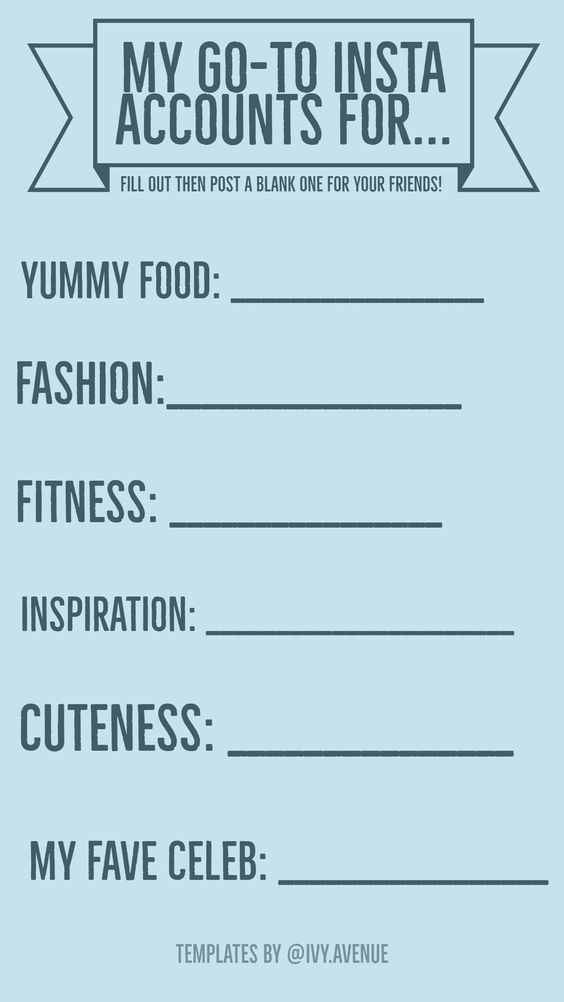 graphic regarding Funny Fill in the Blank Stories Printable named 67 Enjoyment Instagram Reports QA Templates - Bodyweight Mum Thin