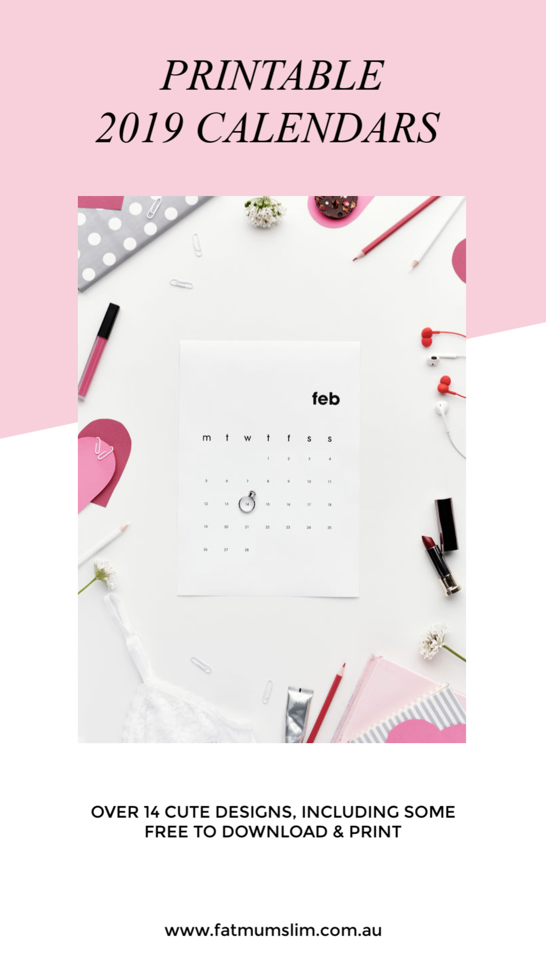 24c3c4ee0ae The Best  Printable 2019 Calendars. Fat Mum Slim ...